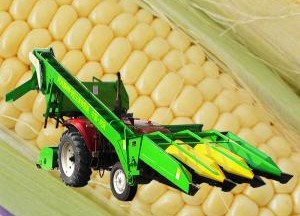 时风玉米收获机产品图图