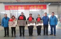 常林农装公司欢送员工光荣退休活动在钣金车间隆重举行