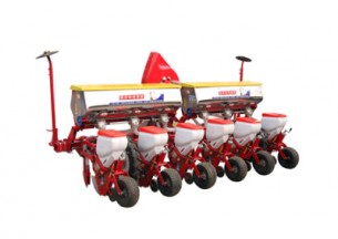 农哈哈2BYQF-6轻型气吸式玉米播种机产品图图